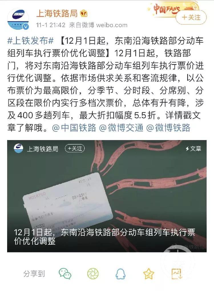 下月起近千趟火車調票價:最低5.5折,或因京滬鐵路將上市-信用報告-工商信息-企一網