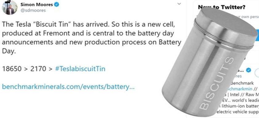 特斯拉新电池图片首次曝光