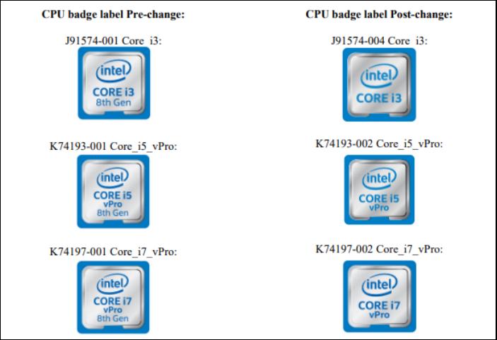 Intel處理器八代酷睿名字悄然消失