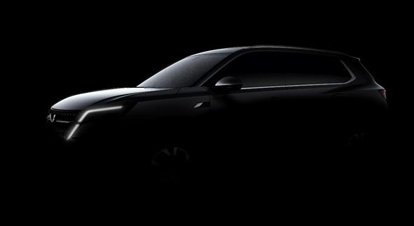五菱推出首款戰略型SUV設計草圖