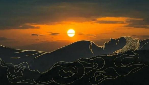 四川乐山发现天然睡佛