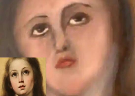 """西班牙画作修补,完成后堪比""""毁容"""""""