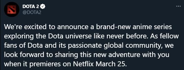 網飛與V社合作的DotA動畫片即將首播