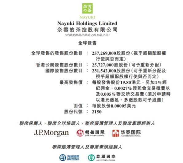 奈雪的茶正式启动公开招股,即将挂牌港交所